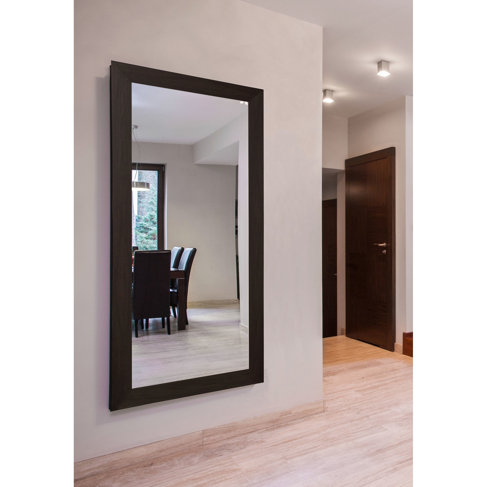 Extra Large Black Walnut Mirror Reviews Allmodern Regarding Large Black Mirrors (Image 11 of 15)