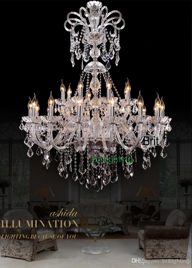 Extra Large Foyer Chandelier Vintage Chandeliers Modern Crystal With Regard To Large Crystal Chandeliers (Image 9 of 15)