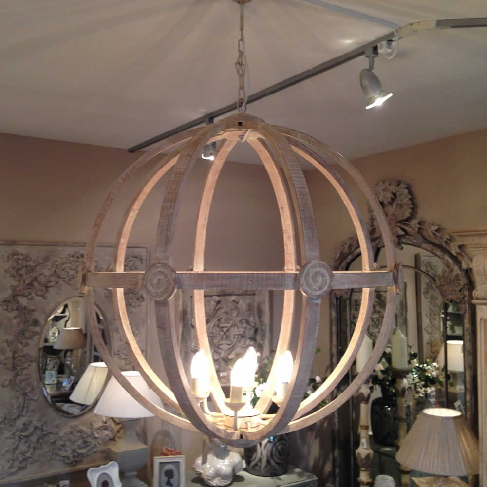 Extra Large Round Wooden Orb Chandelier Stunning Rustic Light In Extra Large Chandeliers (Image 12 of 15)