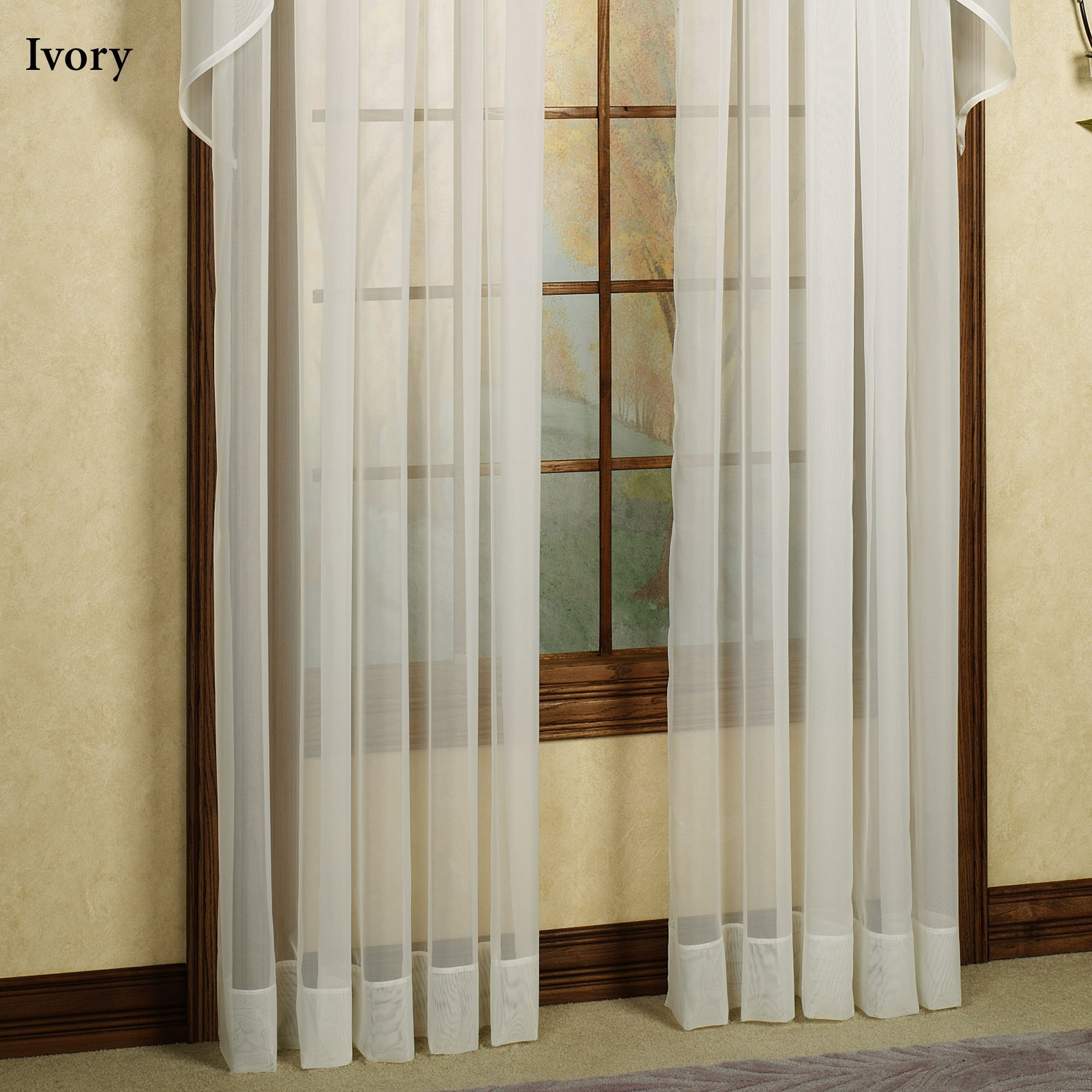 Extra Long Cream Curtains In Long Drop Curtains (Image 8 of 15)