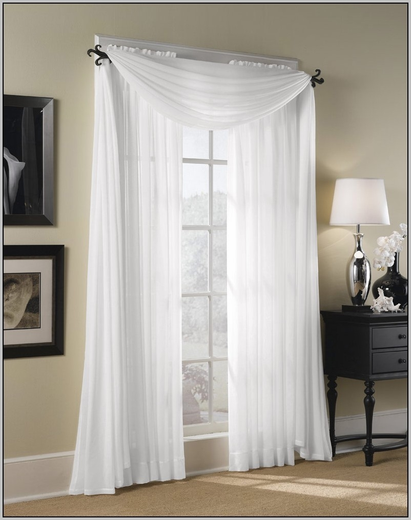 Extra Long White Voile Curtains Curtains Home Design Ideas Inside Extra Long Voile Curtains (Image 9 of 15)