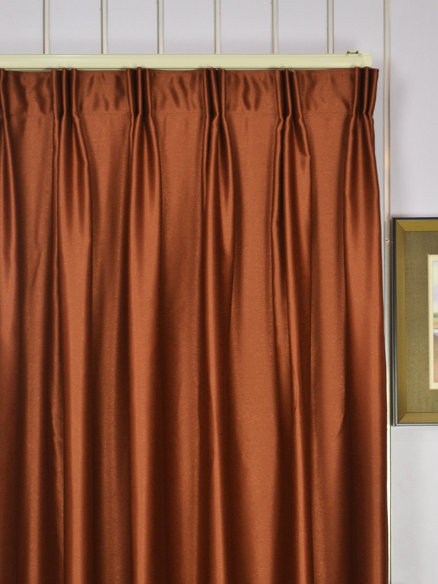 Extra Wide Swan Brown Solid Versatile Pleat Curtains 100 Inch Throughout Ready Made Curtains 120 Inch Drop (View 4 of 15)