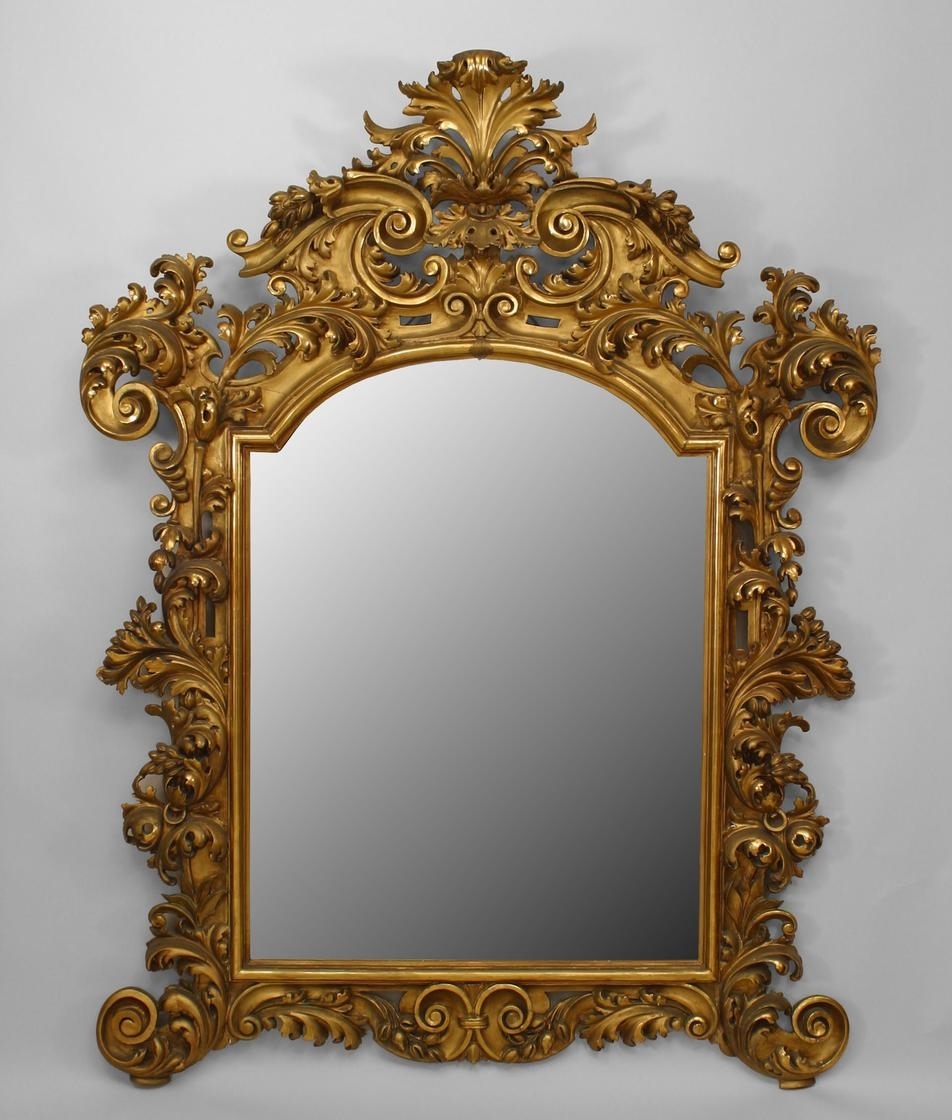 Extraordinary 19th Century French Carved Gilt Cherub Rococo Throughout Rococo Mirror Cheap (Image 8 of 15)