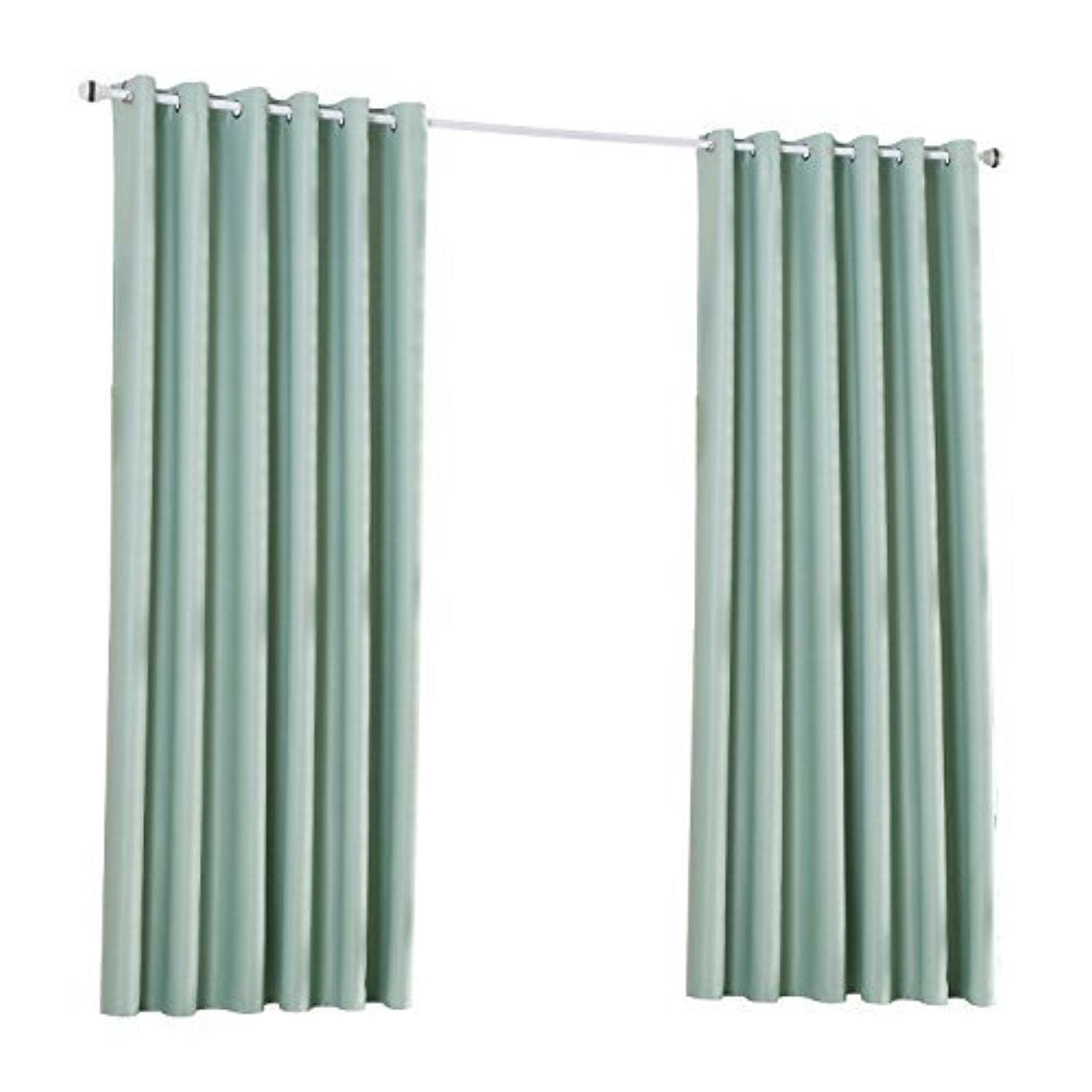 15 photos blue blackout curtains eyelet curtain ideas - Mint green kitchen curtains ...