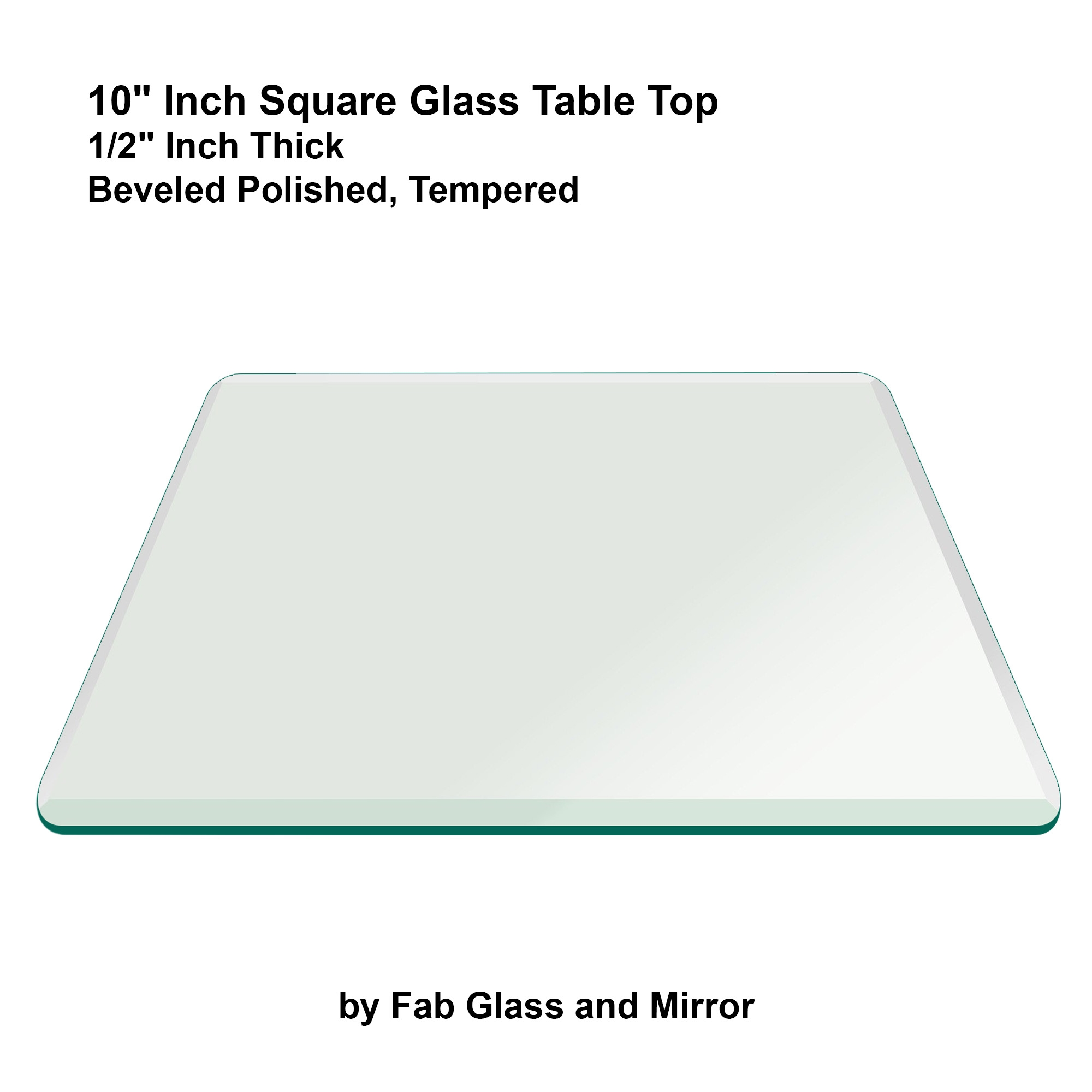 Fab Glass And Mirror Square Clear Glass Table Top With 1 Beveled Intended For Chamfered Edge Mirror (Image 6 of 15)