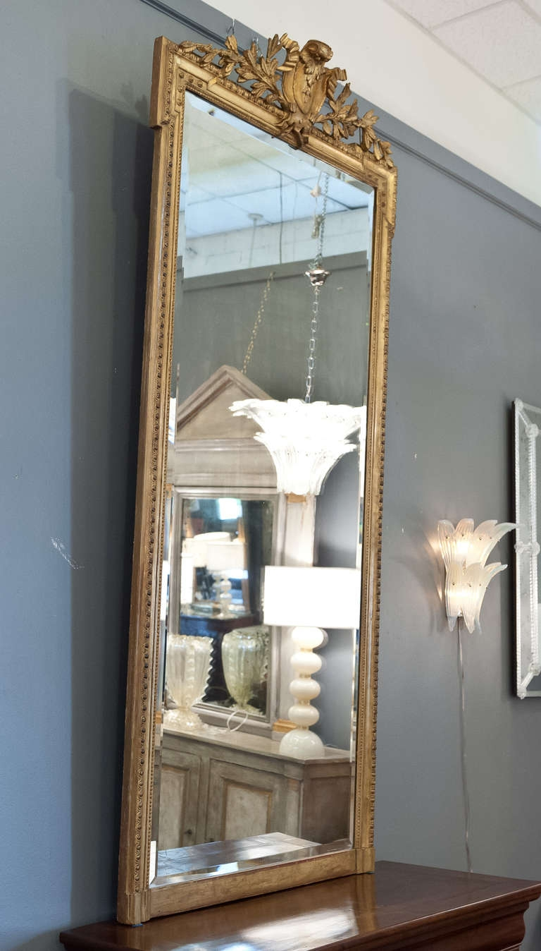 Fabulous 7 7 Tall Mirror With Gold Leafed Carved Frame And Intended For Full Length French Mirror (Image 4 of 15)