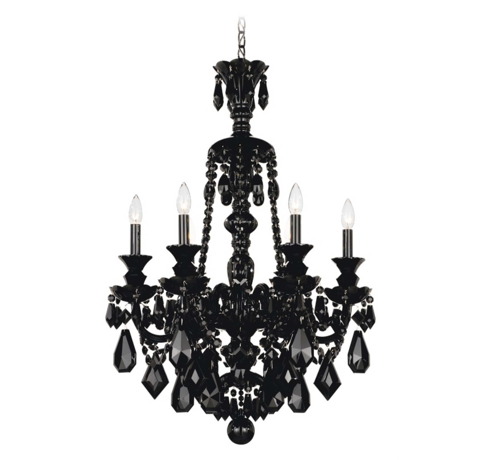 Fabulous Contemporary Black Chandelier Dramatic Elegant Black Throughout Contemporary Black Chandelier (Image 11 of 15)
