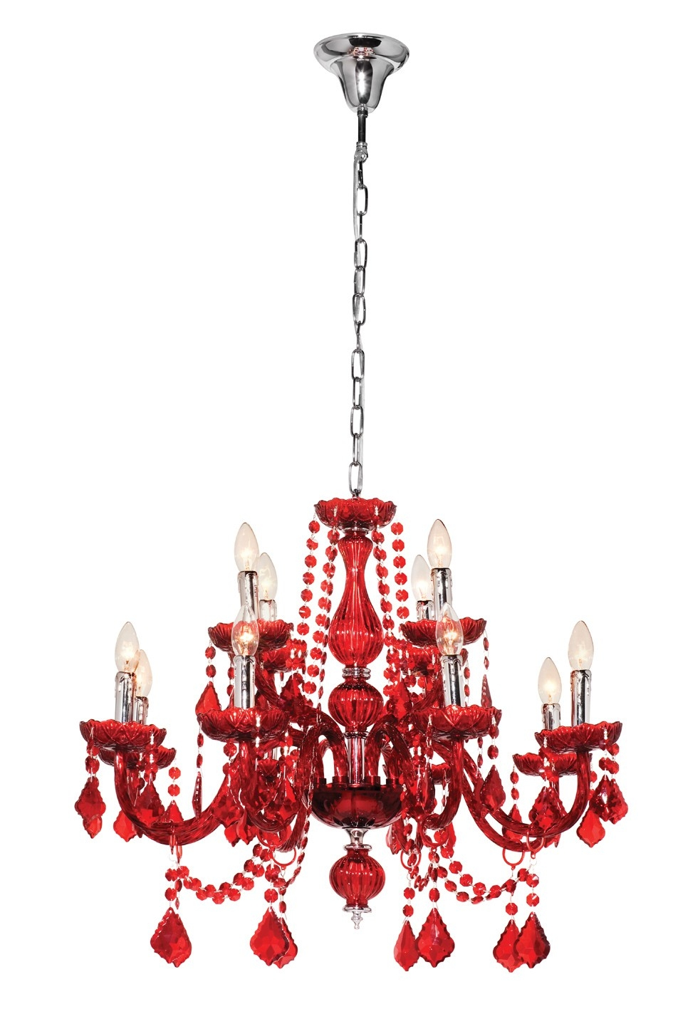 Fabulous Red Chandelier On Modern Home Interior Design Ideas With Inside Modern Red Chandelier (Image 6 of 15)