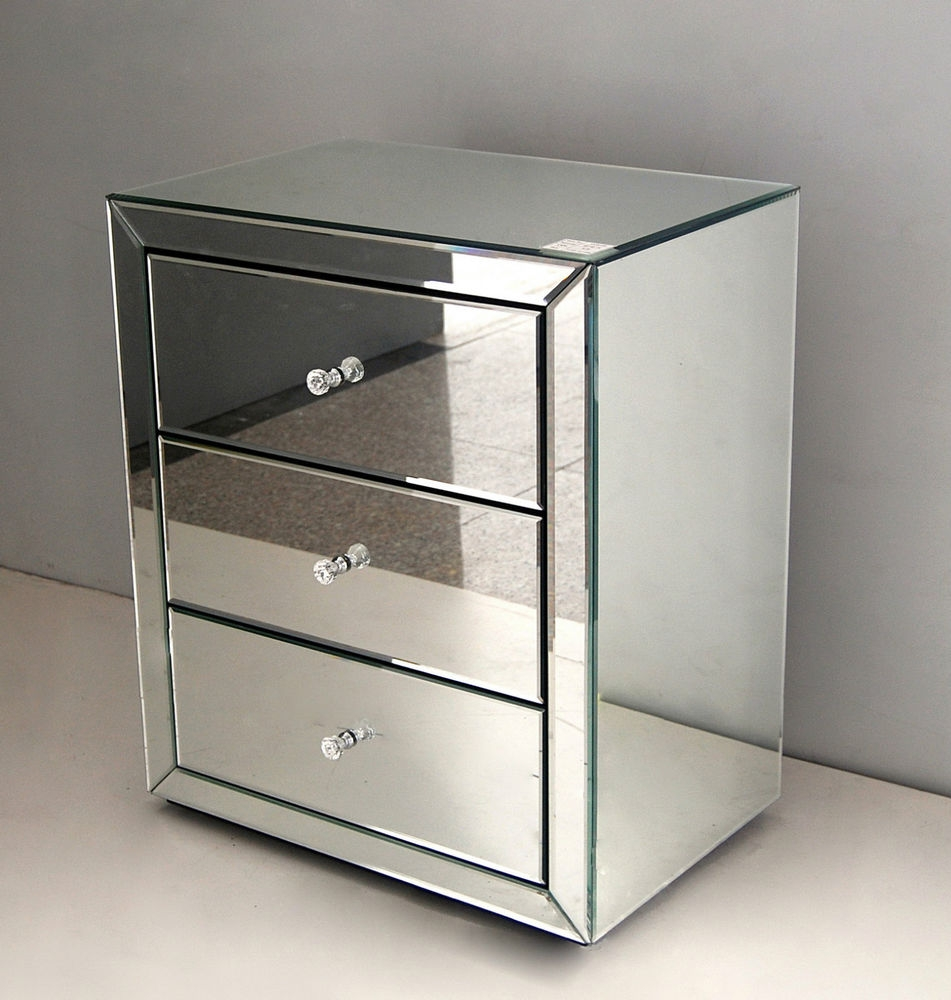 Faceted Mirror Side Table Regarding Small Table Mirror (Image 4 of 15)