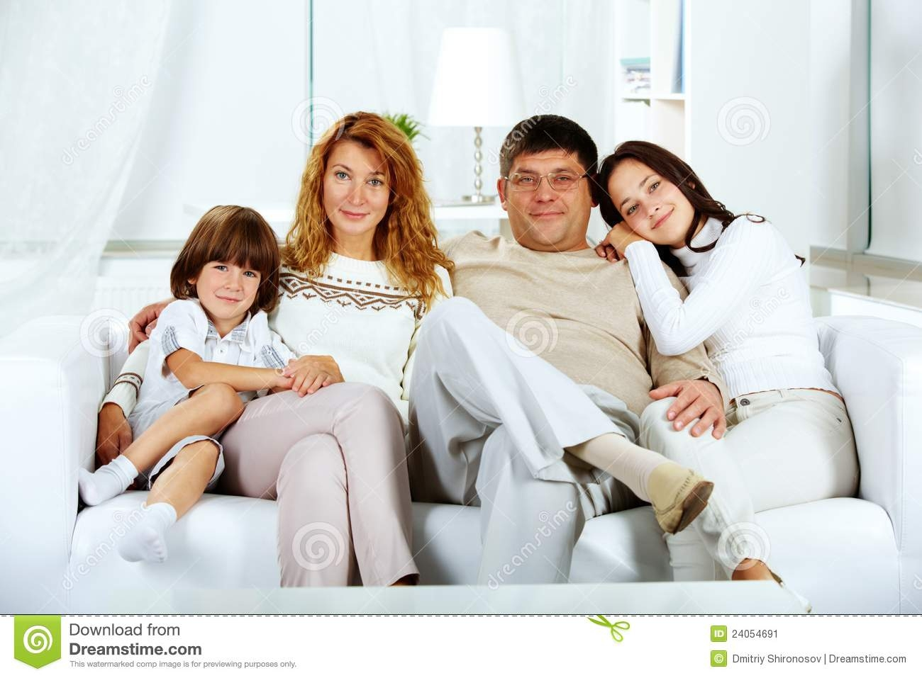 Family On Sofa Stock Image Image 24054691 With Regard To Family Sofa (Image 3 of 15)