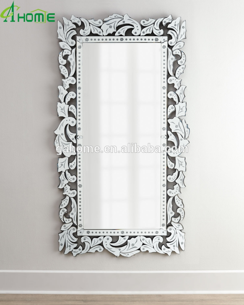 Fancy Full Length Long Decorative Venetian Wall Mirror Buy Full Within Long Venetian Mirror (Image 4 of 15)