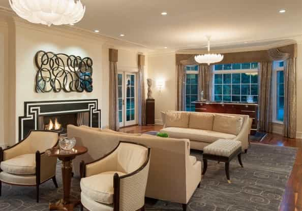 Featured Image of Fashionable Art Deco Living Room