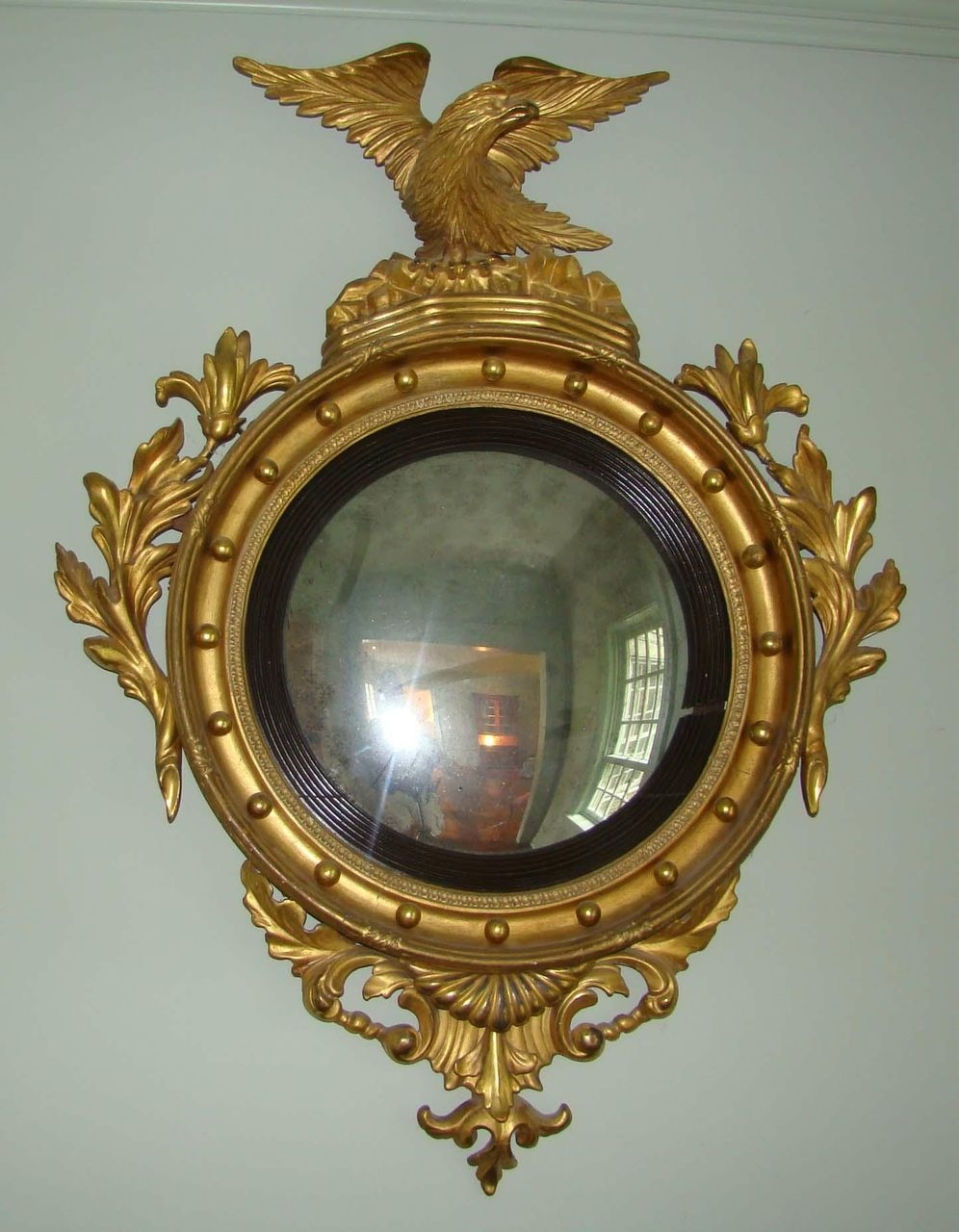 Federal Period Convex Mirror From Wayne Mattox Antiques On Ru Lane Regarding Antique Convex Mirrors For Sale (Image 10 of 15)