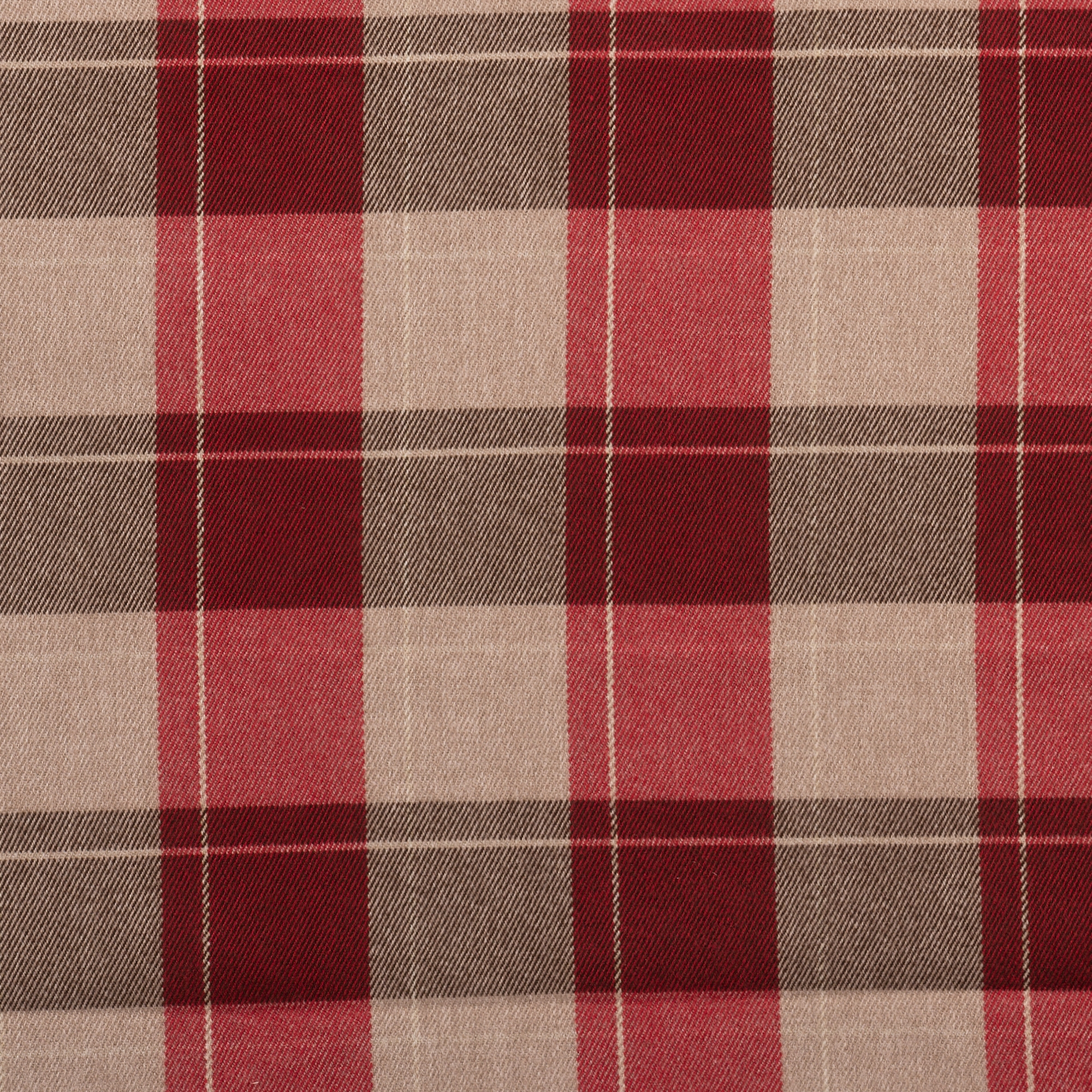 Fellcroft Cranberry Roman Blind Plaid Check Roman Blinds Inside Plaid Roman Blinds (Image 4 of 15)