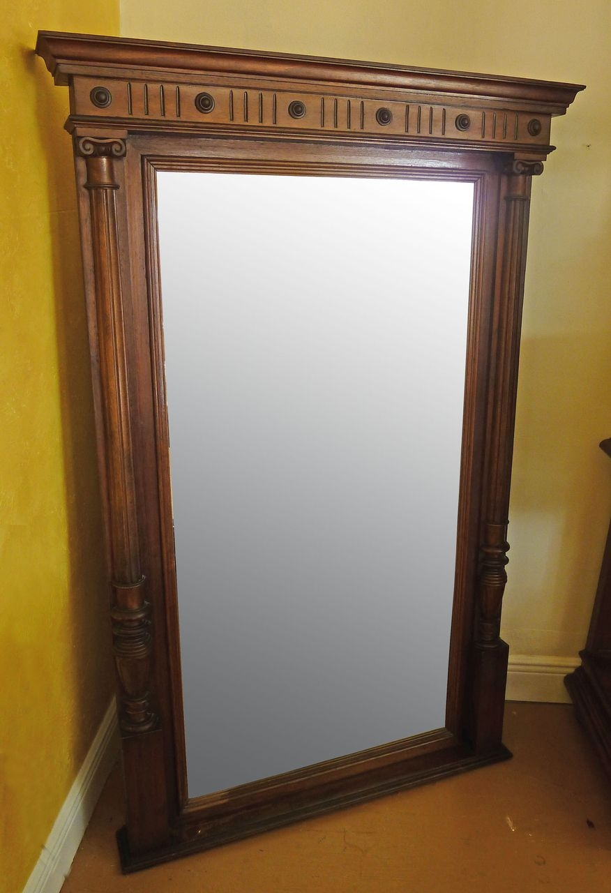 Final Sale Large 19th Century Austrian Wall Mirror Sold On Ru Lane For Antique Wall Mirrors For Sale (Image 5 of 15)