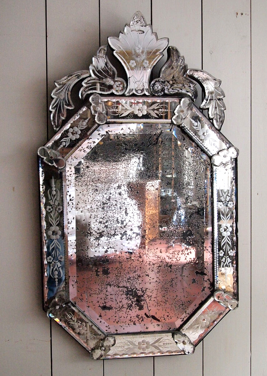 Fine Antique Venetian Mirror Puckhaber Decorative Antiques Within Venetian Antique Mirror (Image 10 of 15)