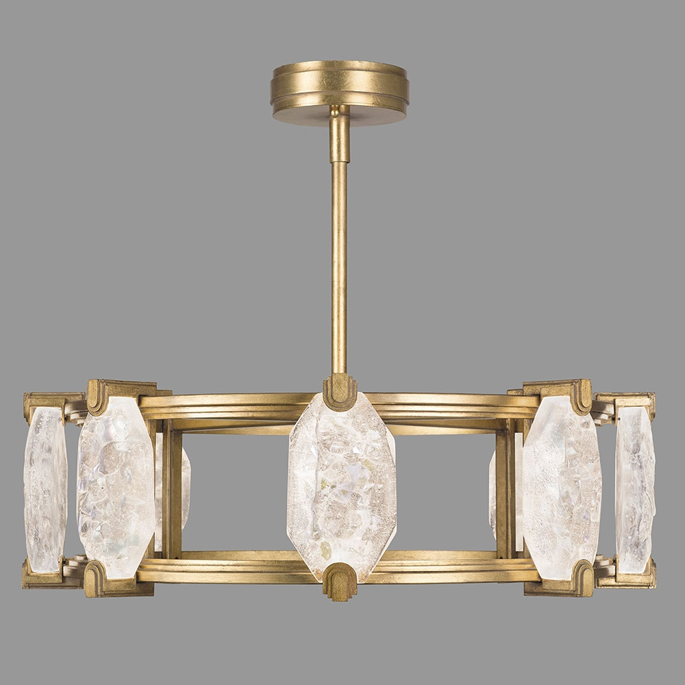 Fine Art Lamps 872840 2st Allison Paladino Contemporary Gold Leaf Throughout Gold Leaf Chandelier (Image 7 of 15)
