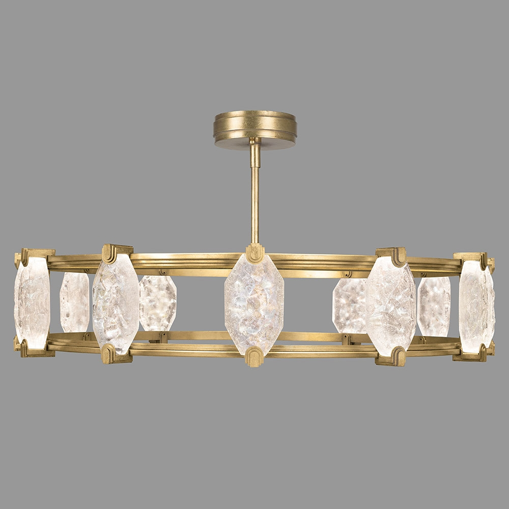 Fine Art Lamps 872940 2st Allison Paladino Modern Gold Leaf Led With Regard To Gold Leaf Chandelier (View 5 of 15)