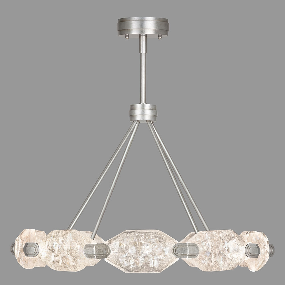 Fine Art Lamps 873040 1st Allison Paladino Modern Silver Leaf Led Regarding Modern Led Chandelier (View 14 of 15)