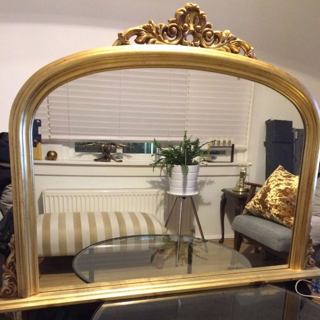 Fire Placefireplaceover Mantle Biglarge Antiquevictorian In Gold Mantle Mirror (Image 5 of 15)