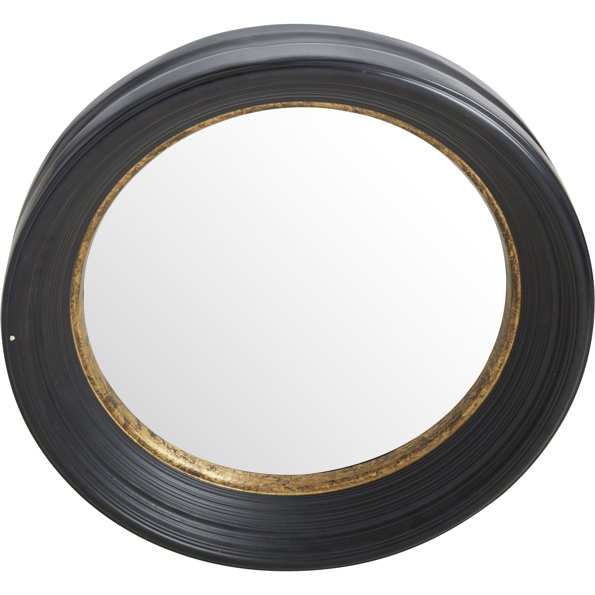 Fleur De Lis Living Convex Round Brown Wall Mirror Reviews Wayfair Regarding Round Convex Wall Mirror (Image 5 of 15)