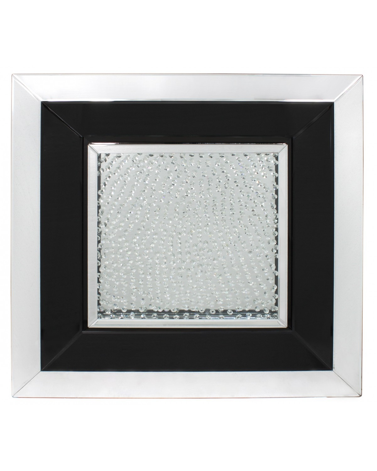 Floating Crystal Black Large Square Mirror Wall Art With Large Square Mirror (View 3 of 15)