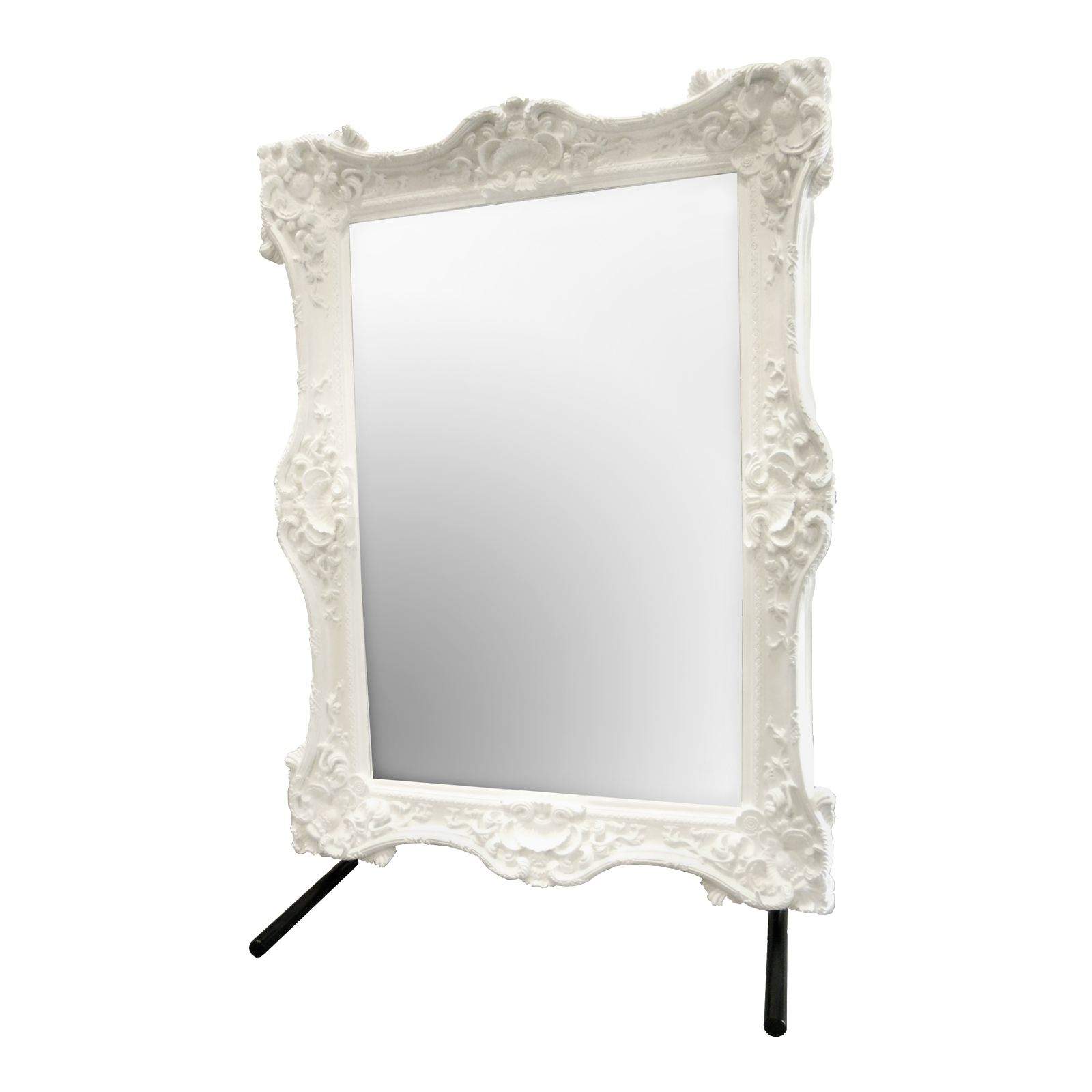 Floor Mirror Rentals Event Furniture Rental Formdecor Inside Baroque White Mirror (Image 6 of 15)