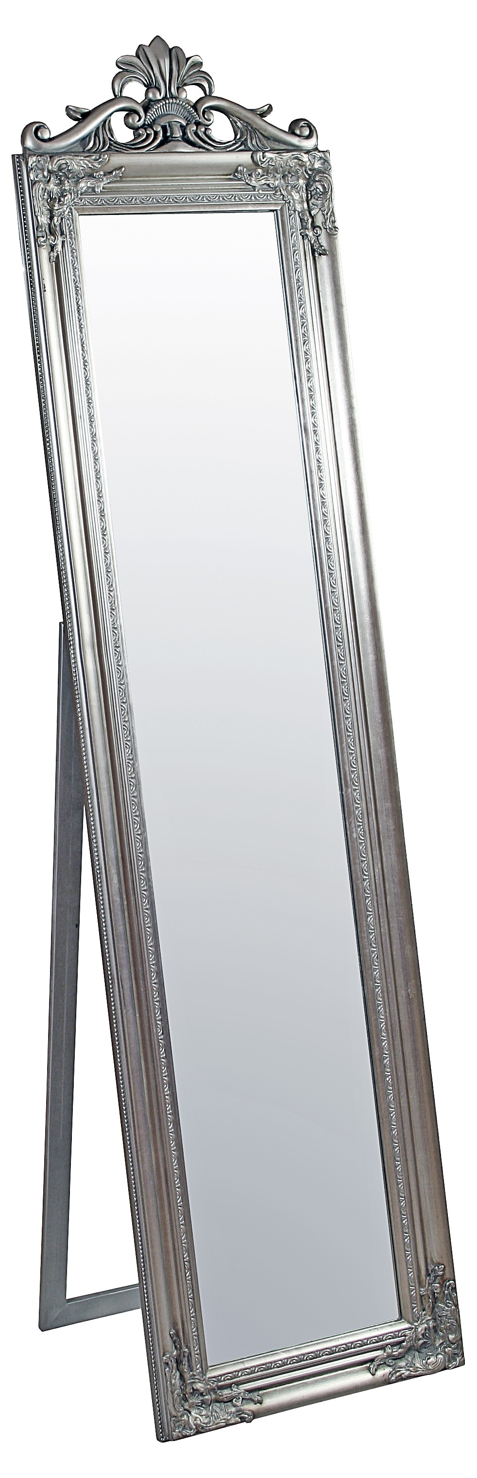 Floor Mirrors Full Length Floor Standing Decorative Be Fabulous In Silver Floor Standing Mirror (Image 9 of 15)