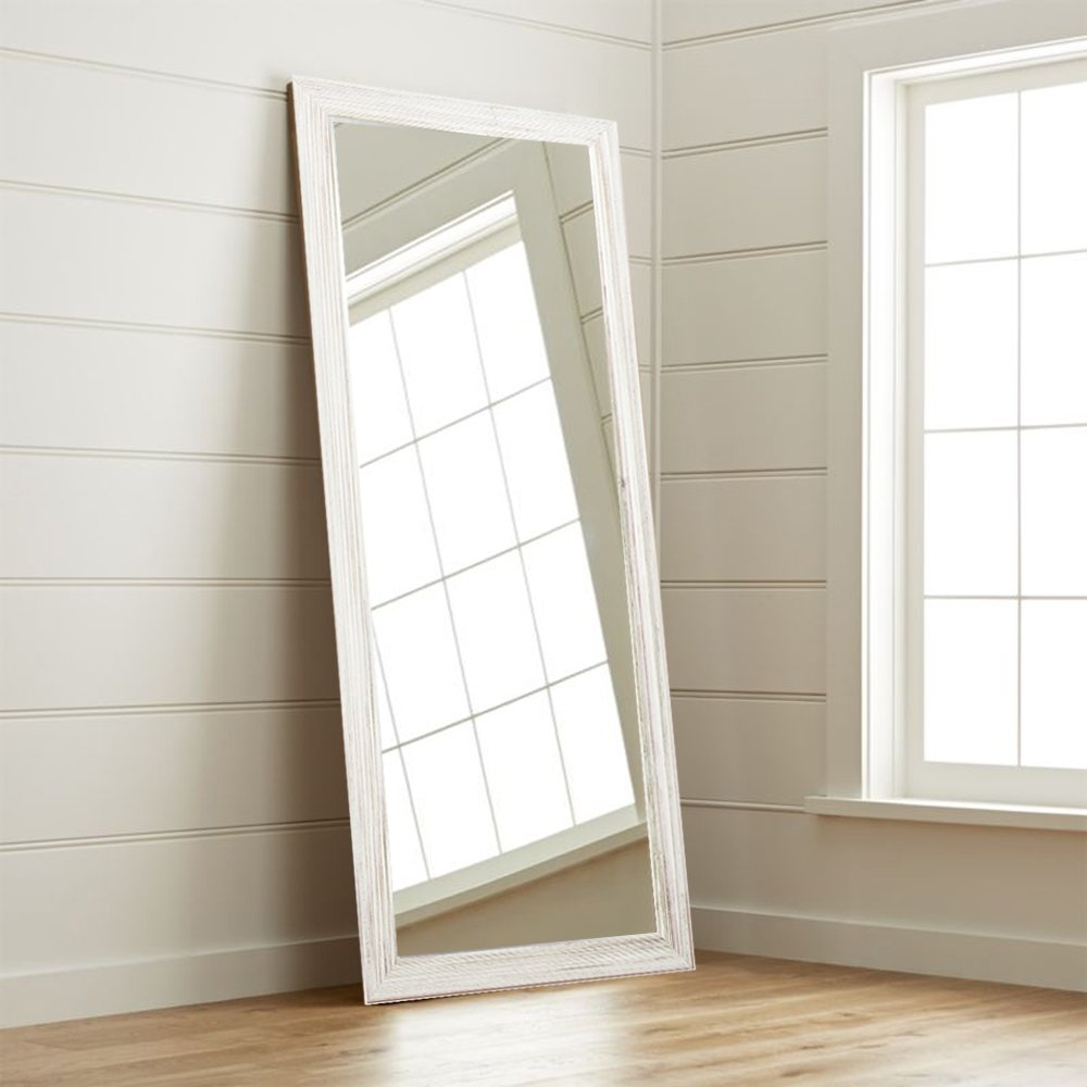 Floor Mirrors Youll Love Wayfair For Large White Floor Mirror (Image 6 of 15)