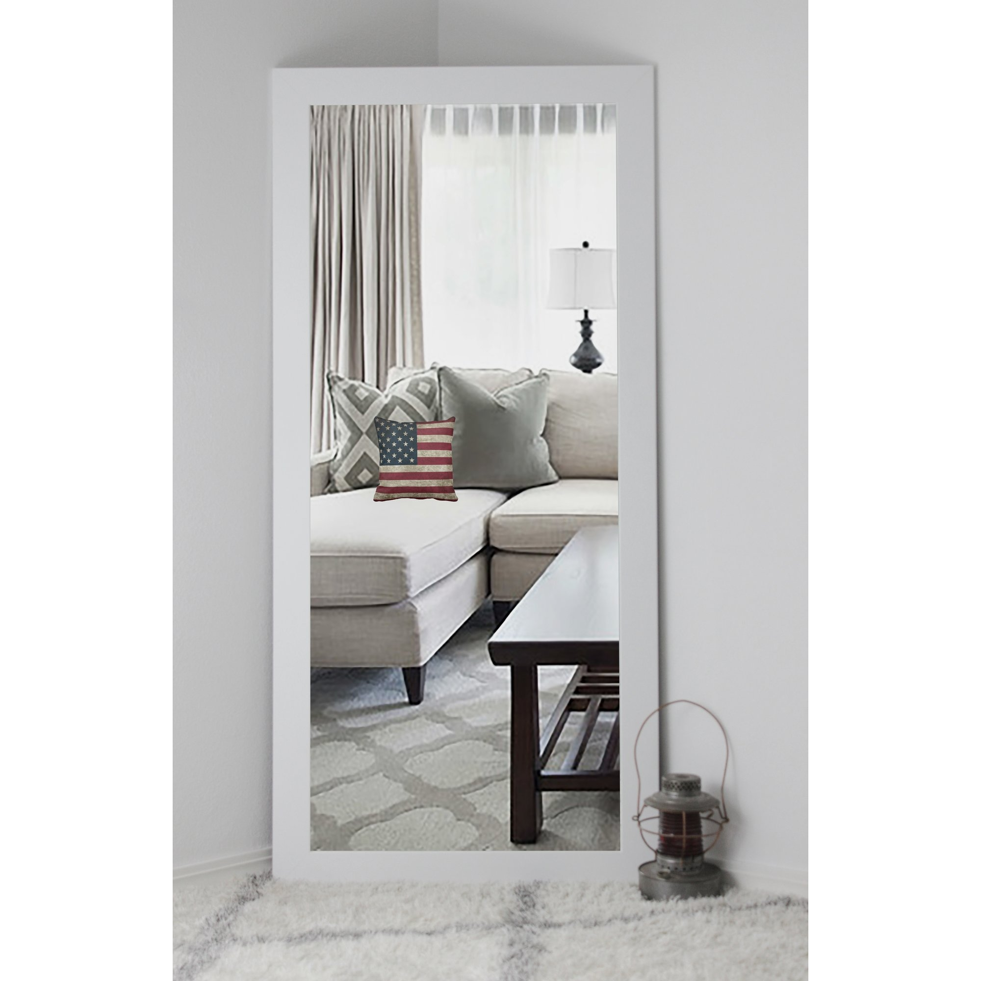 Floor Mirrors Youll Love Wayfair In Long Length Mirror (Image 8 of 15)