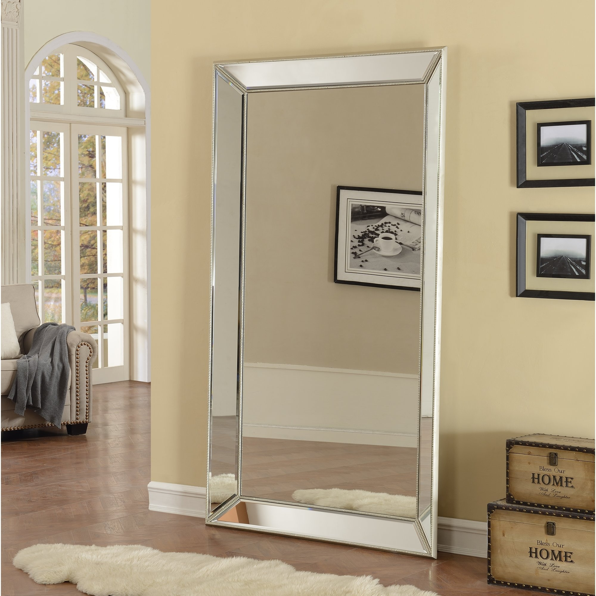 Floor Mirrors Youll Love Wayfair Regarding Antique French Floor Mirror (Image 10 of 15)
