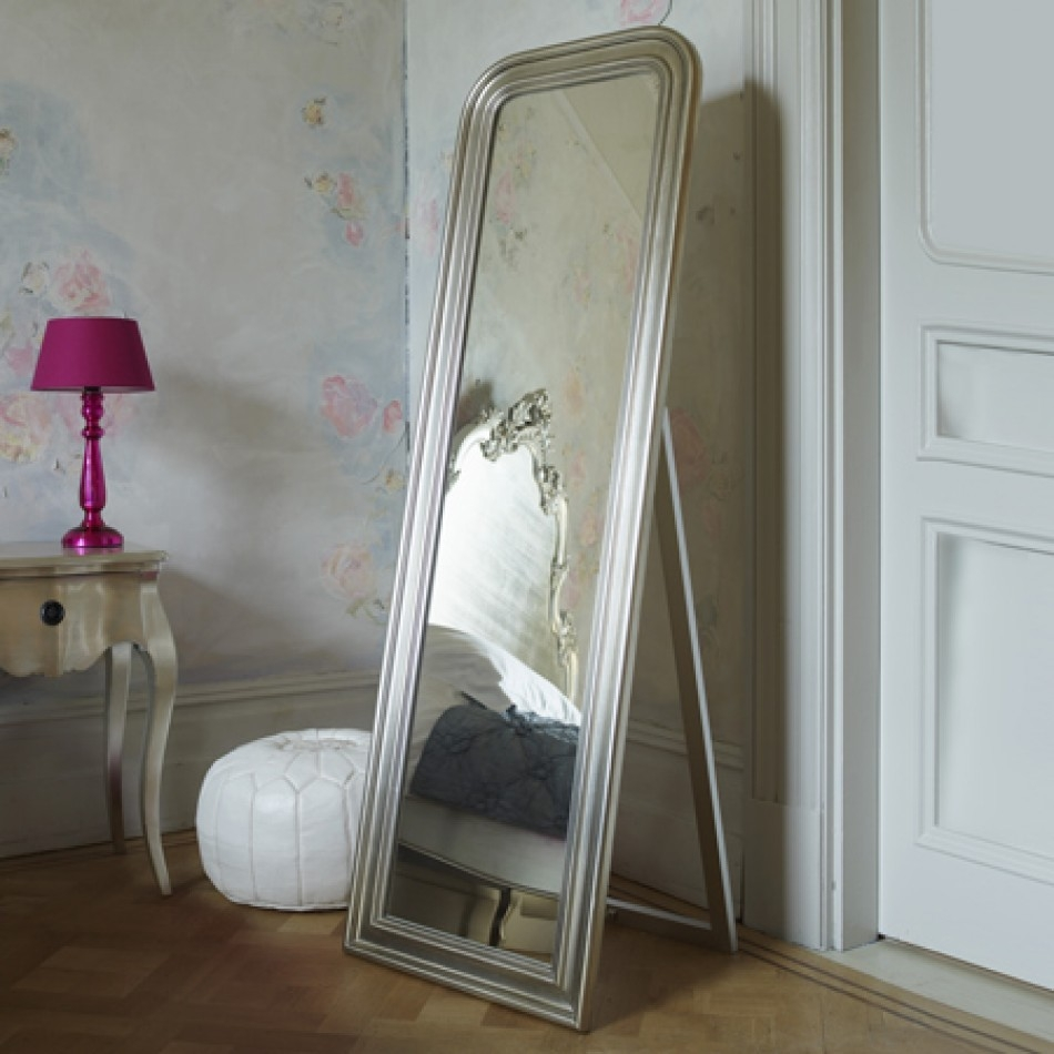 Floor Standing Mirrors Mirrors Pinterest Floor Mirror Pertaining To Silver Floor Standing Mirror (Image 10 of 15)