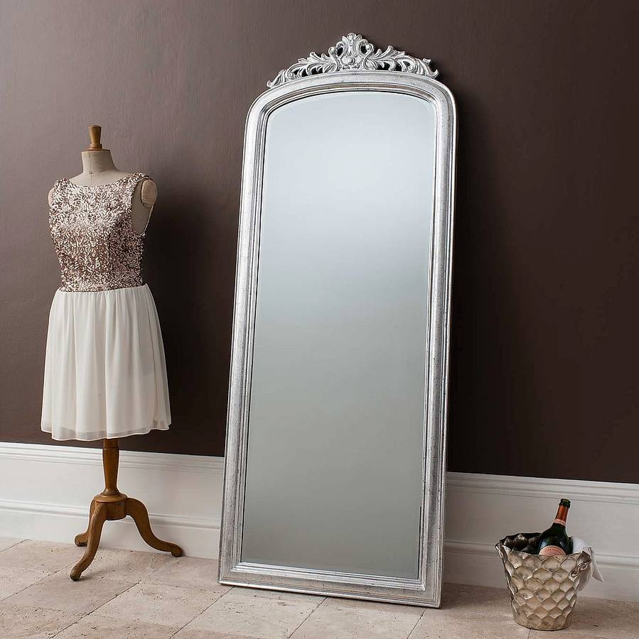 Flooring Elegant Silver Full Length Mirror Search Mirrors Floor Intended For Antique Floor Length Mirror (View 8 of 15)