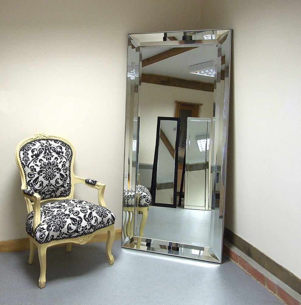 Flooring Extra Large Leaning Floor Mirror Standslarge Gold For Big Gold Mirror (Image 7 of 15)