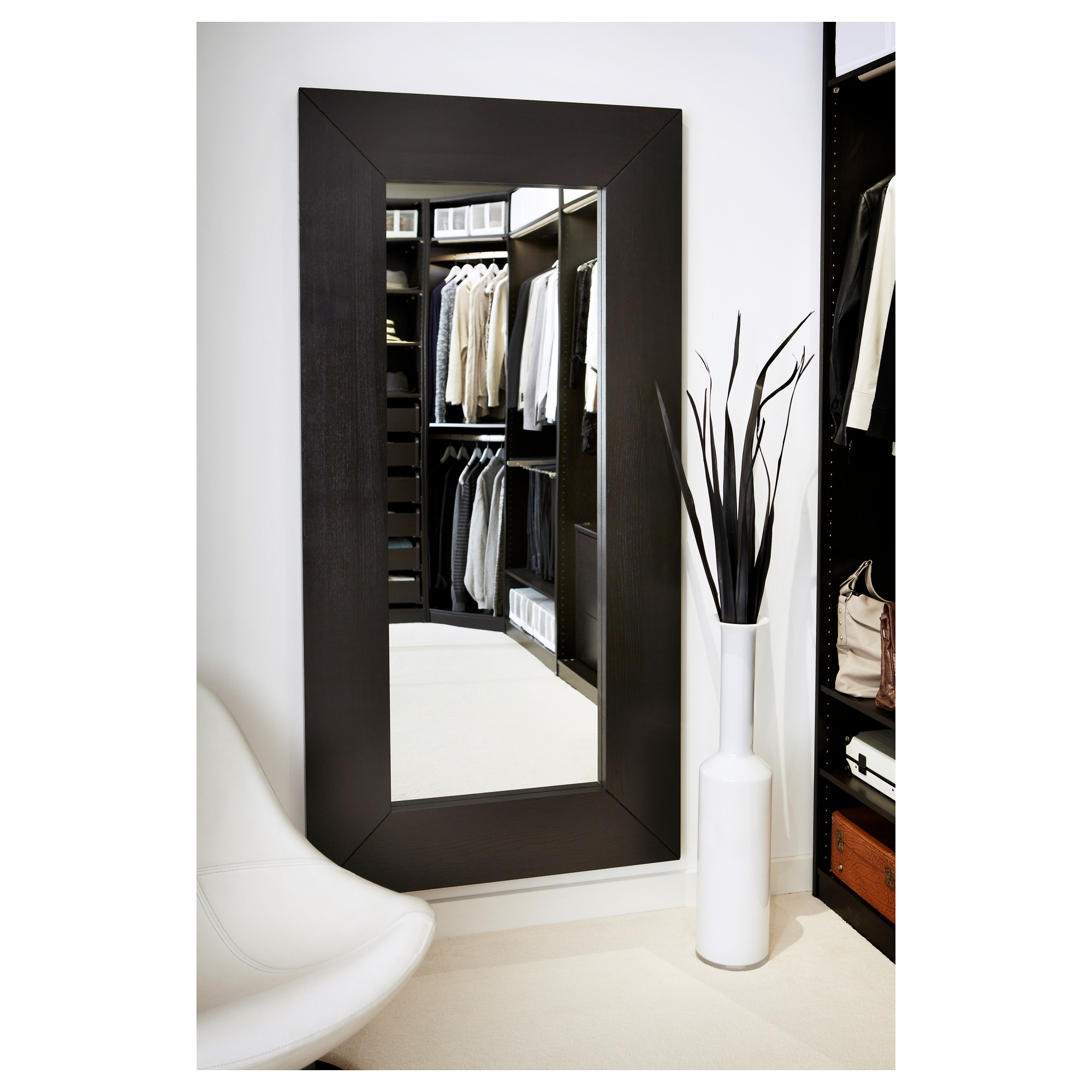 Flooring Full Length Floor Mirrors For Bedrooms Standing Mirror Inside Black Floor Standing Mirror (Image 8 of 15)