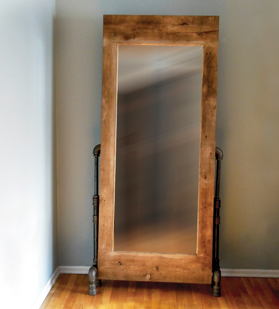 Flooring Ikea Full Length Floor Mirrorfloor Mirror On Wheels Pertaining To Vintage Full Length Mirrors (Image 4 of 15)