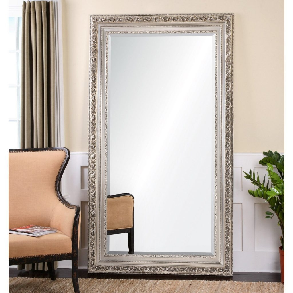 Flooring Incredible Leaning Floor Mirror Picture Design 0217528 In Oversized Mirrors For Sale (Image 11 of 15)
