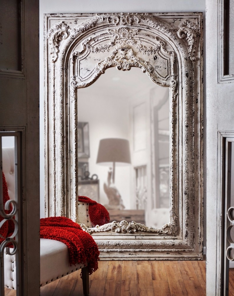 Flooring Large Floor Mirror Mirrors Cheap Gold Rentalslarge Pertaining To Antique Gold Mirrors Large (Image 11 of 15)