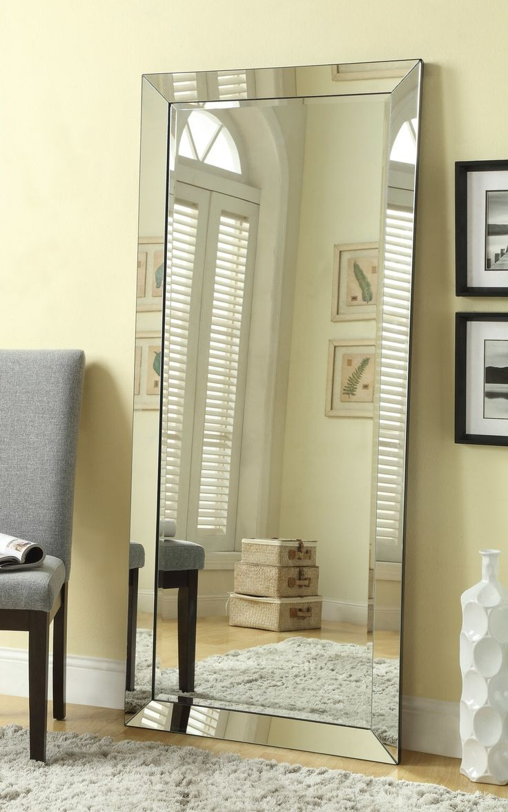 Flooring Tall Standing Mirrors Leaning Floor Mirror Full Length In Large White Floor Mirror (Image 7 of 15)