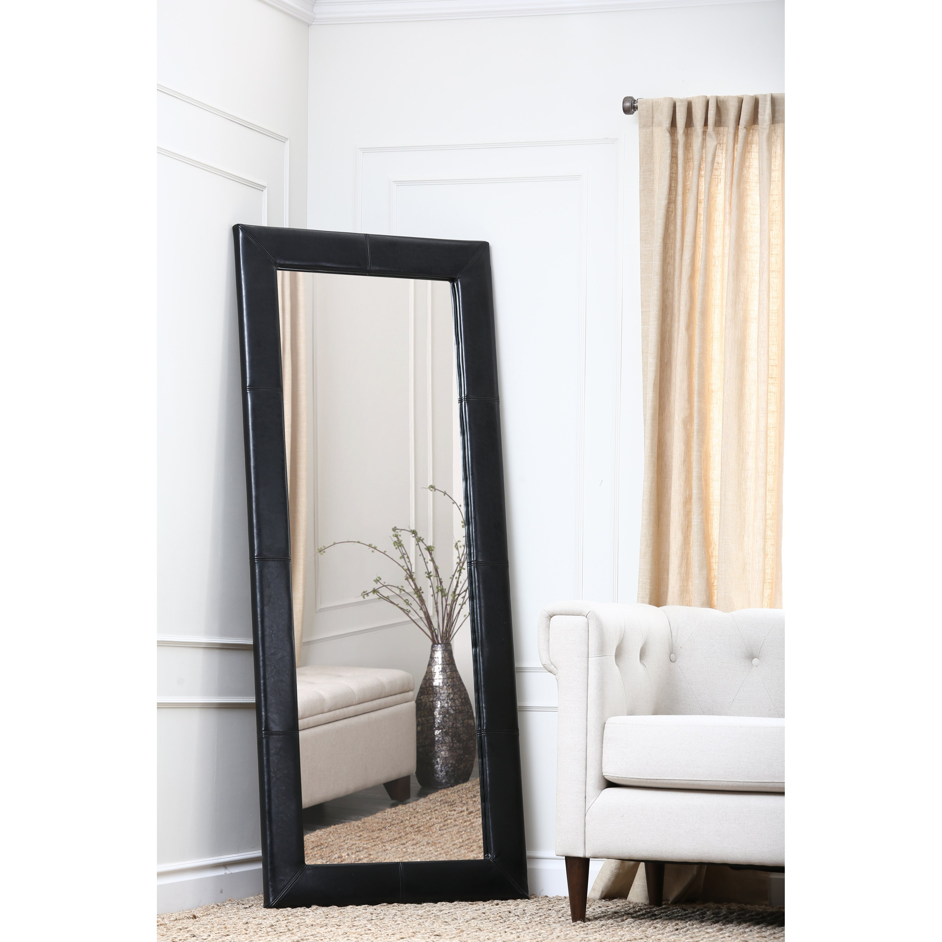 Flooring Tall Standing Mirrors Leaning Floor Mirror Full Length With Regard To Large Mirrors Cheap (Image 10 of 15)