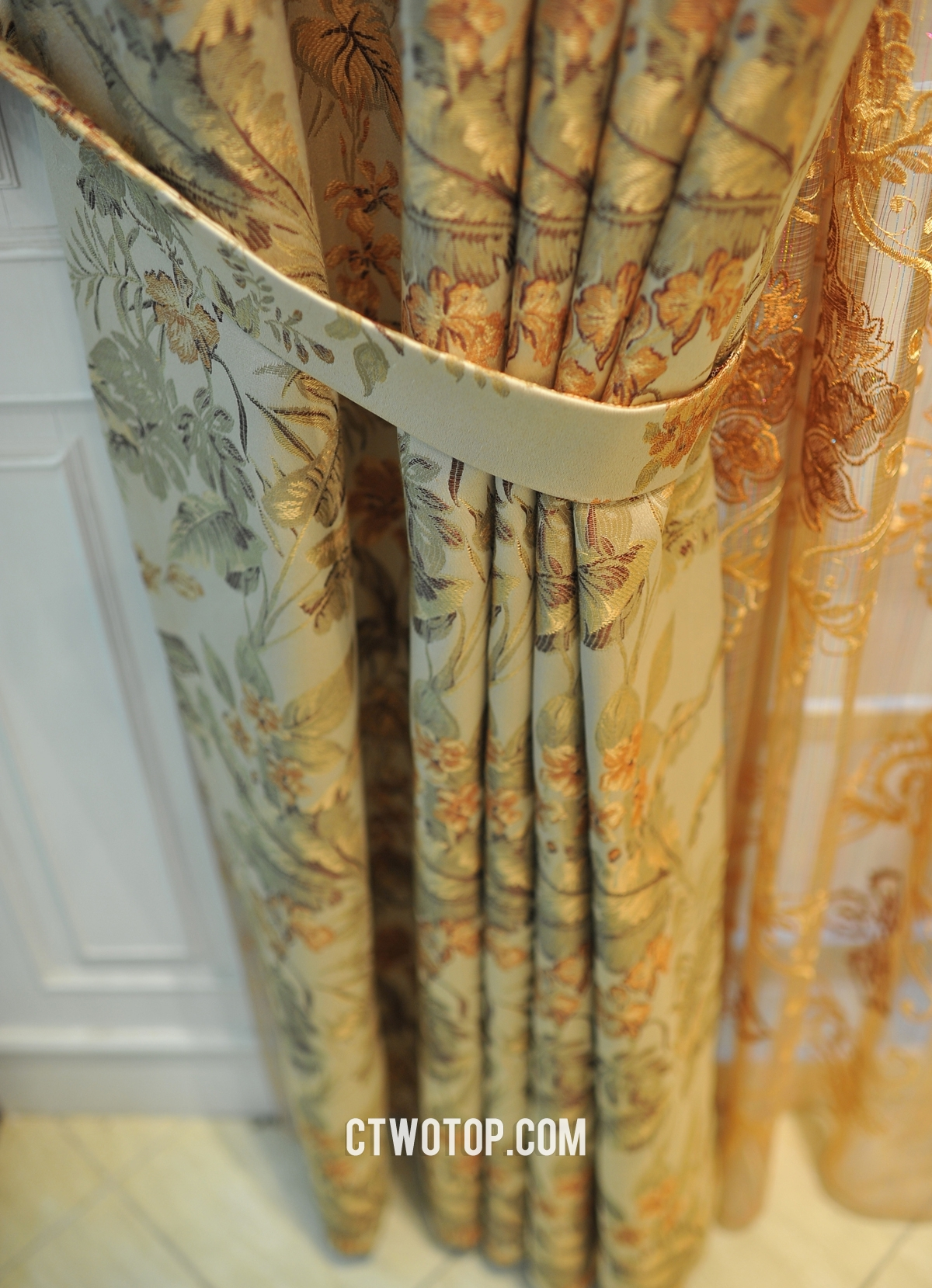 Floral Custom Vintage Swag Extended Length Curtains No Include Inside Extended Length Curtains (Image 11 of 15)
