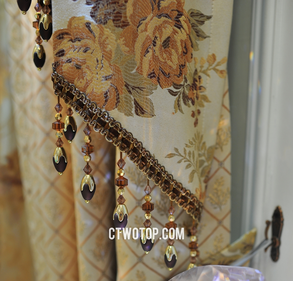 Floral Custom Vintage Swag Extended Length Curtains No Include With Regard To Extended Length Curtains (Image 12 of 15)