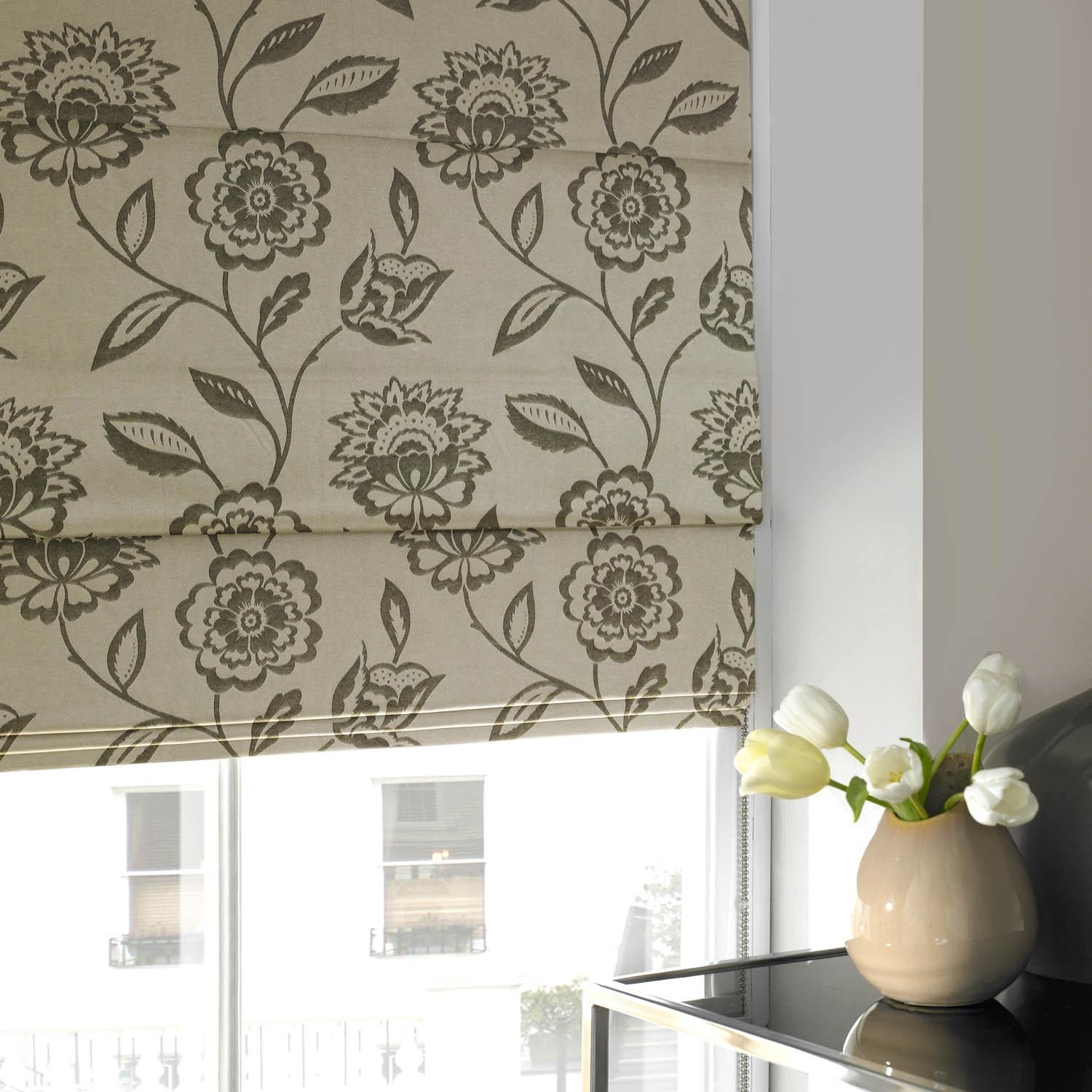 Featured Image of Floral Roman Blinds