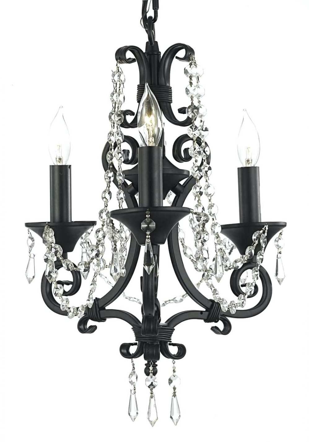 Flush Mount Crystal Chandelier Beautiful French Country Style Inside Grey Crystal Chandelier (Image 8 of 15)