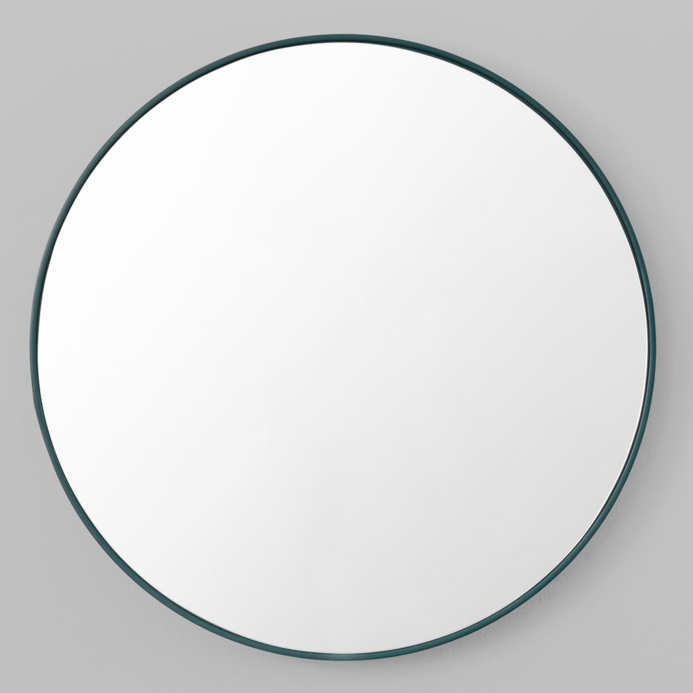 Flynn Round In Black Circle Mirrors (Image 4 of 15)