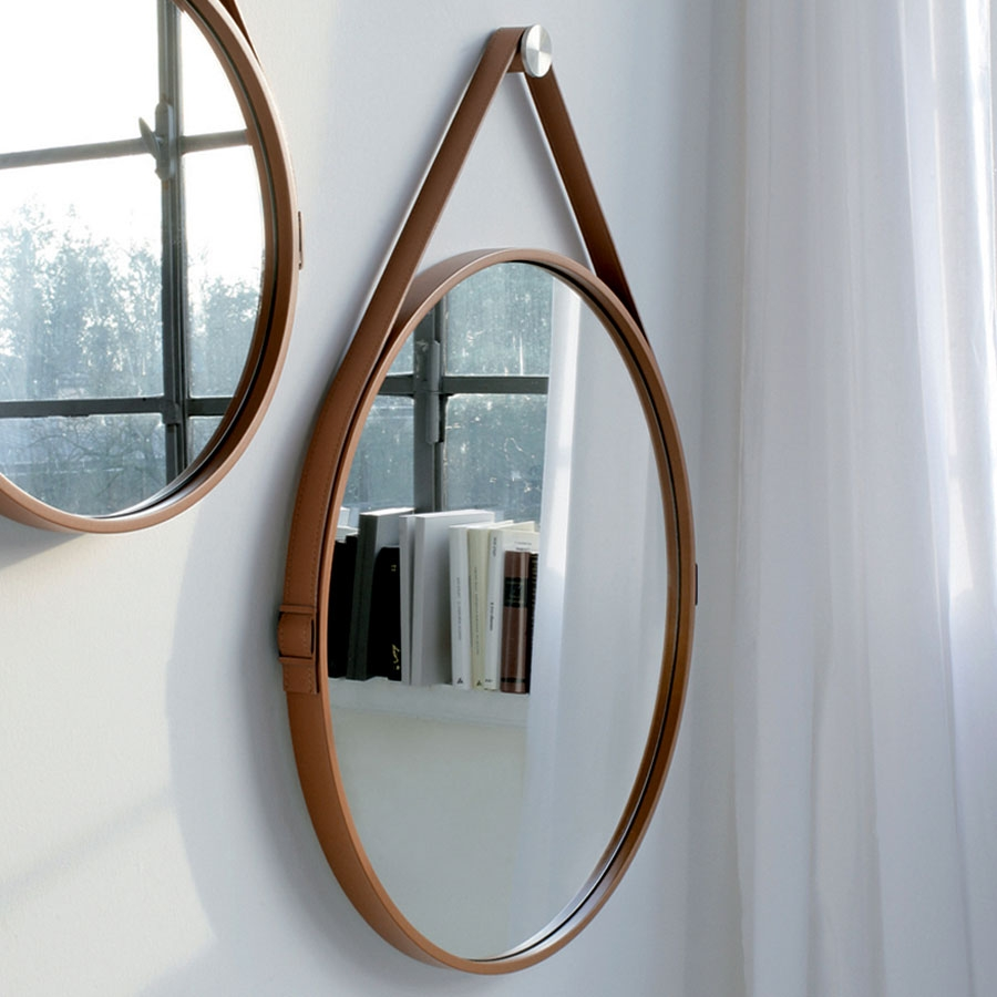 Found It At Wwwdcgstores George 36 Manhattan With Leather Round Mirror (Image 5 of 15)