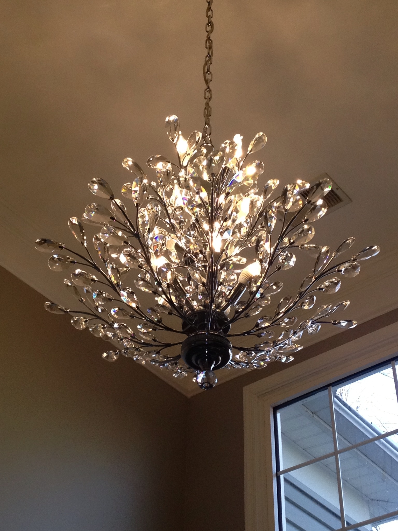 Foyer Chandelier Branch Of Light Design Joshua Marshall Home Throughout Crystal Branch Chandelier (Image 7 of 15)
