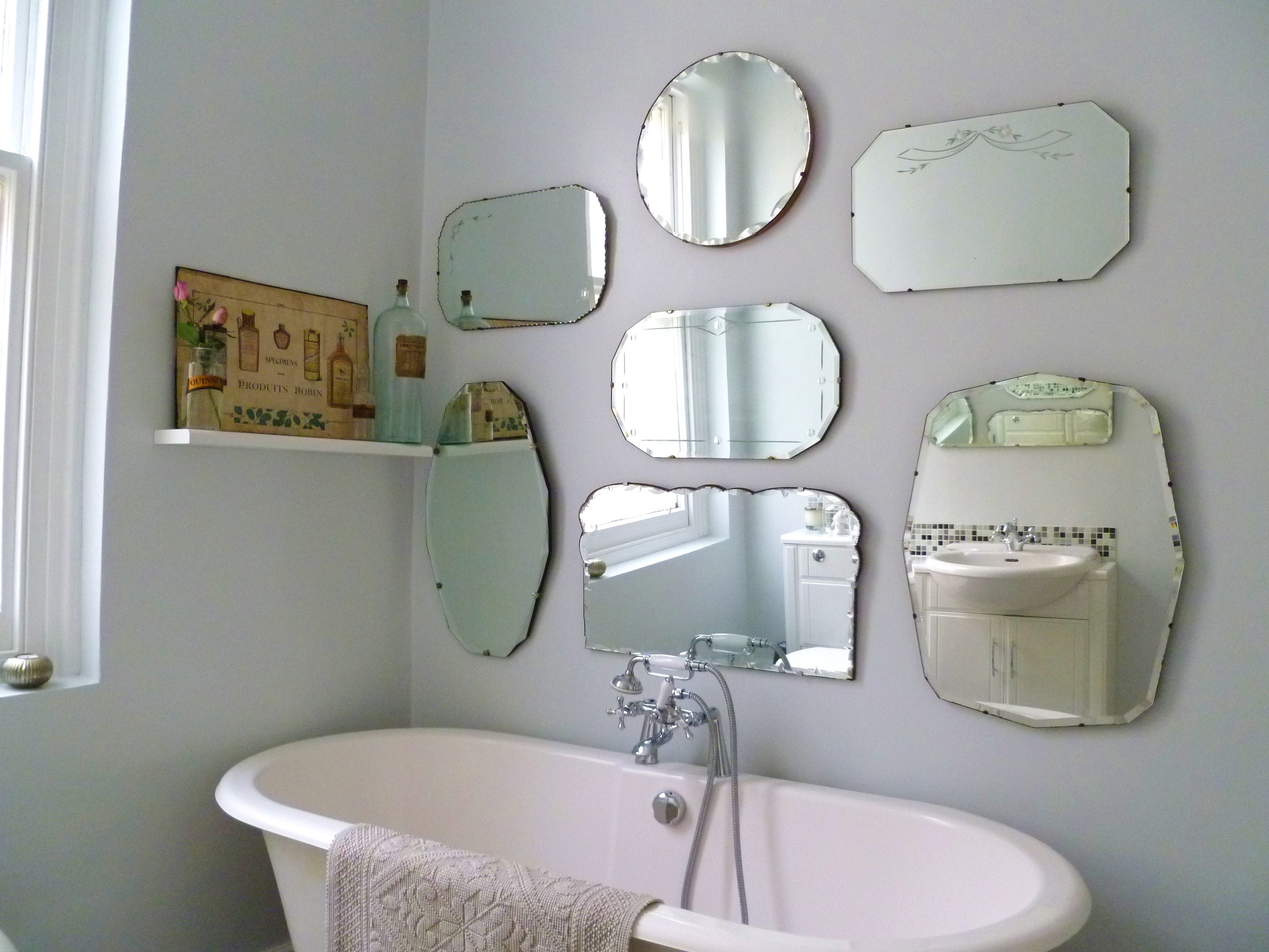 Frameless Bathroom Mirrors Regarding Vintage Frameless Mirror (Image 3 of 15)
