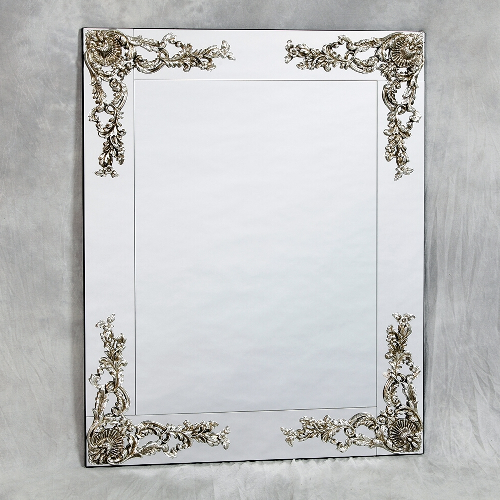 Frameless Metallic Wall Mirror 104 X 84cm Exclusive Mirrors Within Square Venetian Mirror (Image 8 of 15)