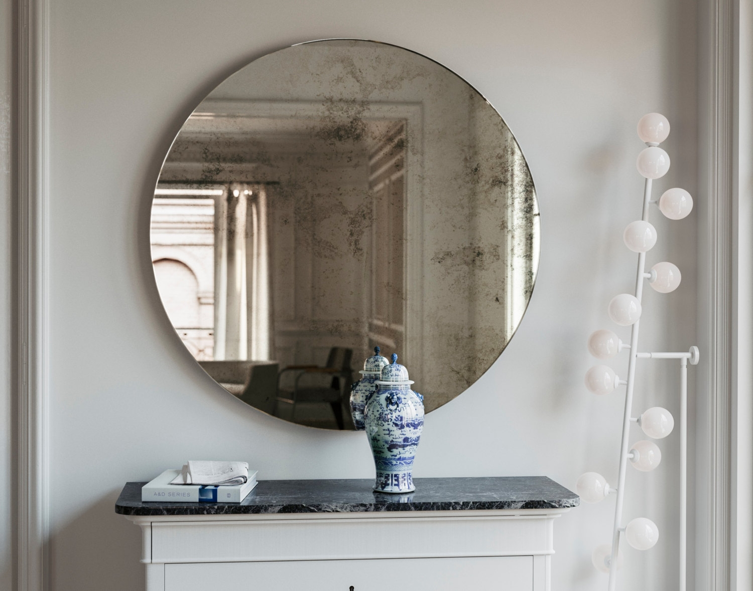 Frameless Mirror 1920s Inspired Art Deco Glass Hanging Wall Pertaining To Antique Frameless Mirror (View 7 of 15)